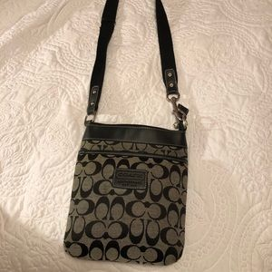 Black coach cross body purse